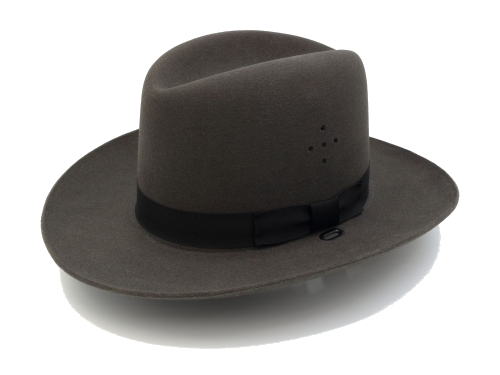 Sheriff Hat in Graphite Gray Felt