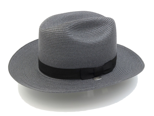 Straw Trooper Hat in Graphite Gray