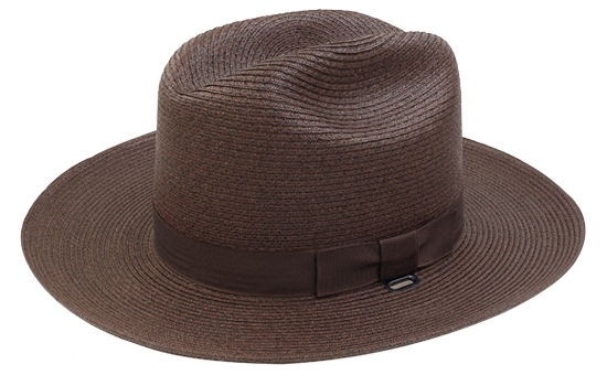 Straw 38 style brown hat